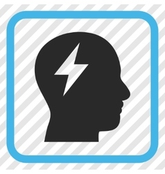 Brainstorming Icon In a Frame vector