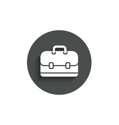 Business case simple icon portfolio sign vector