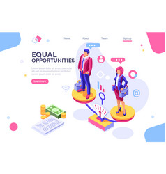 business equality concept vector image