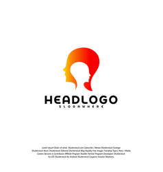colorful mind logo head intelligence logo vector image