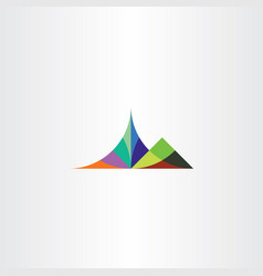 colorful mountain symbol element vector image