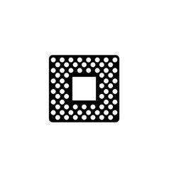 cpu flat icon vector image