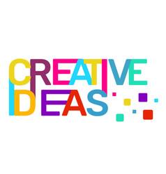 Creative ideas text colored rainbow concept on vector