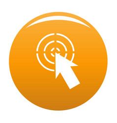 cursor shape icon orange vector image