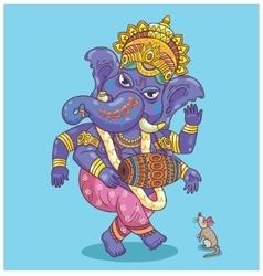 Dancing Ganesha vector image