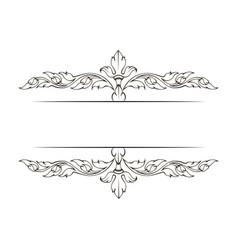 Decorative ornamental page decoration vector