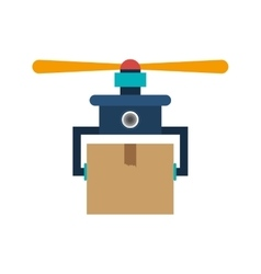 drone carrying box with one airscrew vector image