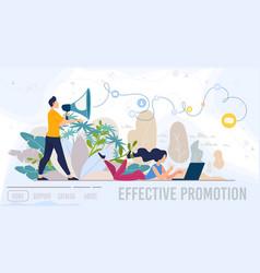 Effective promotion service flat web banner vector