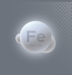 Ferrum mineral icon vector