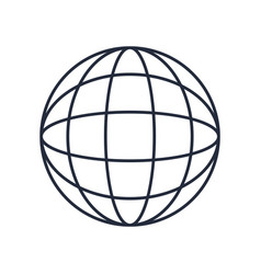 global world earth connection symbol vector image