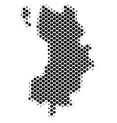 Halftone dot koh tao thai island map vector
