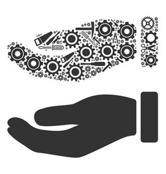 hand composition of service tools vector image