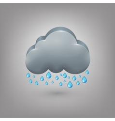 Icon weather Rain cloud vector image