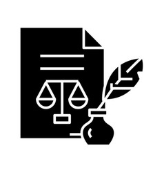 Judicial document black icon concept vector