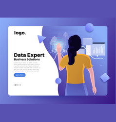 Landing page business people vector