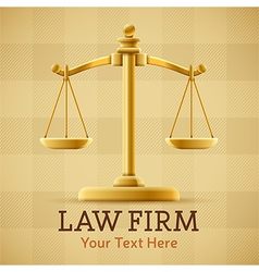 Law Firm Justice Scale Background vector