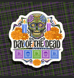 Logo for day dead vector