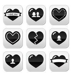 Lovehearts icons set for Valentines Day vector