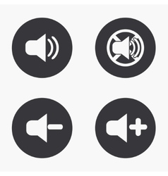 modern sound icons set on vector image