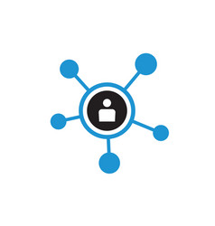 network icon design social media sign vector image