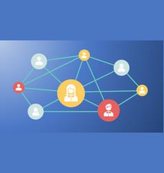 Network stakeholder vector