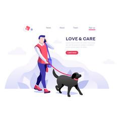 outdoor leisure pet banner vector image