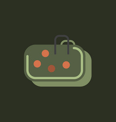 Pebble bag in sticker style vector