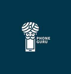 Phone guru logo vector