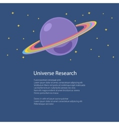 Planet Saturn Isolated and Text vector image