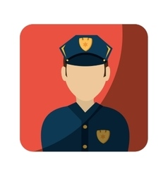 police avatar character icon vector image
