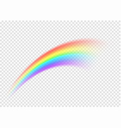 Rainbow smear isolated on transparent background vector