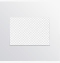 realistic horizontal poster mockup a4 vector image