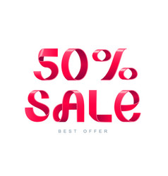 sale 50 percent off vector image