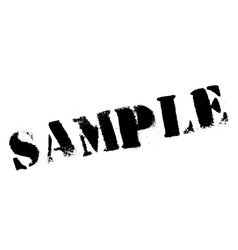 Sample stamp rubber grunge vector