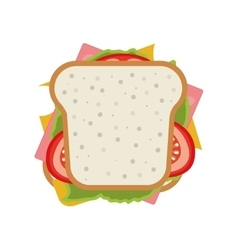 Sandwich with vegetables vector