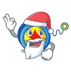 santa yoyo mascot cartoon style vector image