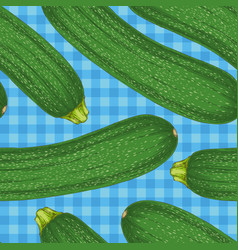 seamless pattern with zucchini or courgette vector image