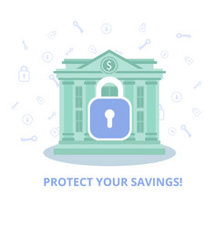 Service security financial account flat ad banner vector