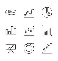 set chart vector image