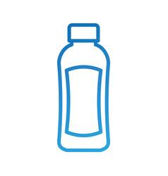 Shampoo plastic bottle lotion or shower gel vector