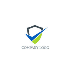 shield business logo vector image