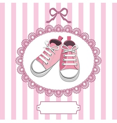Shoes and lace frame vector