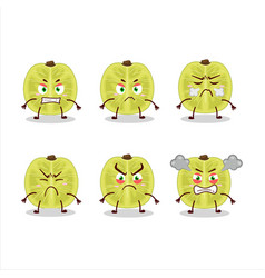 Slice amla character with various angry expression vector