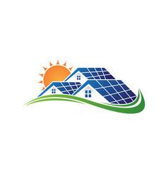 solar home vector image