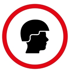 Soldier Helmet Flat Rounded Icon vector