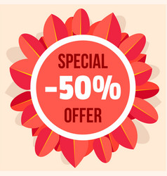 special offer autumn sale background flat style vector image