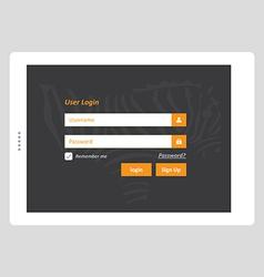 Tablet User Login vector
