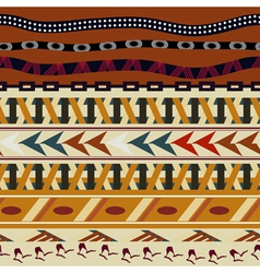 Tribal seamless texture in the African style vector image