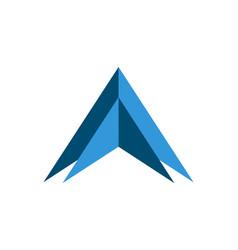 up arrow concept logo vector image