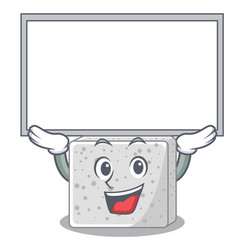Up board feta cheese character cartoon vector